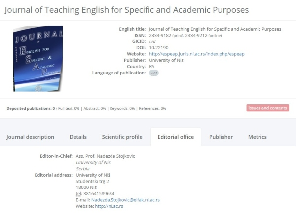 Journal of Teaching English